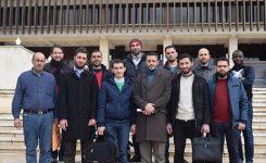 زيارة طلبة الجامعة لمكتبة الأسد